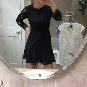 J Crew black lace cocktail dress